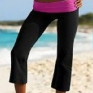 Victoria's Secret Foldover Waist Yoga Capris